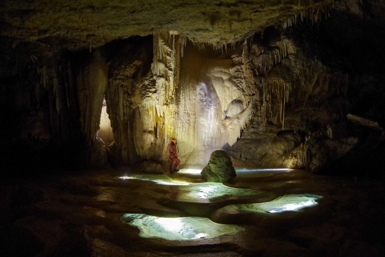 Gour de la galerie Fossile - grotte de Gournier
