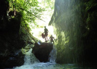 Premier Saut dans le canyon de l'Infernet