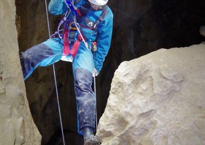 rappel spéléologie grotte eymards vercors Grenoble