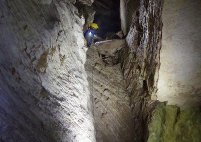 Rappel puits Lavigne spéléologie cuves Sassenage Grenoble